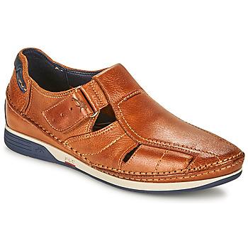 Shoes Men Sandals Fluchos JAMES Brown / Marine / Red