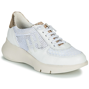 Shoes Women Low top trainers Hispanitas CUZCO White / Gold / Pink