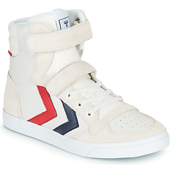 Shoes Children High top trainers Hummel SLIMMER STADIL LEATHER HIGH JR White