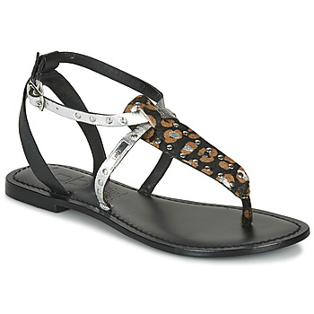 Shoes Women Sandals Les Petites Bombes ALIX Black / Silver