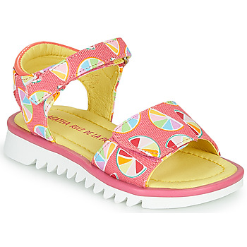 Shoes Girl Sandals Agatha Ruiz de la Prada SMILES Pink / Multicoloured