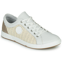 Shoes Women Low top trainers Pataugas JOHANA Ecru / Yellow