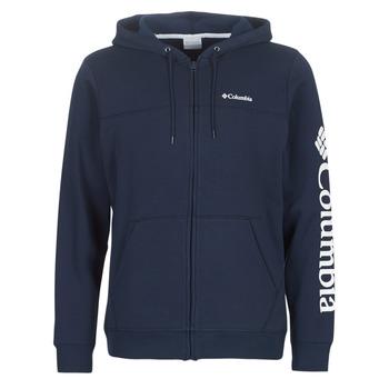 material Men sweaters Columbia Columbia Logo Fleece Full zip Collegiate / Navy