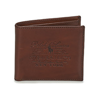 Bags Men Wallets Polo Ralph Lauren HER BILLFOLD-WALLET-SMOOTH LEATHER Brown