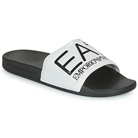 Shoes Sliders Emporio Armani EA7 SEA WORLD VISIBILITY SLIPPER Black / White