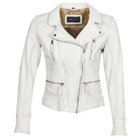 material Women Leather jackets / Imitation le Oakwood CAMERA White
