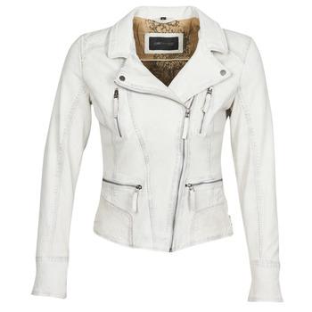 material Women Leather jackets / Imitation le Oakwood CAMERA White