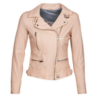 material Women Leather jackets / Imitation le Oakwood VIDEO Nude / Beige / Pink