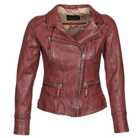 material Women Leather jackets / Imitation le Oakwood CAMERA Red