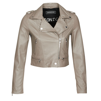 material Women Leather jackets / Imitation le Oakwood YOKO Mastic / (taupe)