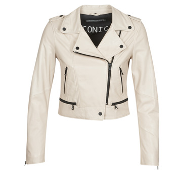 material Women Leather jackets / Imitation le Oakwood YOKO Ivory