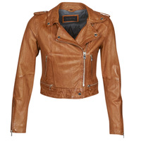material Women Leather jackets / Imitation le Oakwood KYOTO Cognac