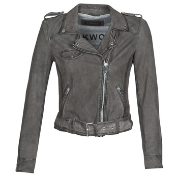 material Women Leather jackets / Imitation le Oakwood PLEASE Grey