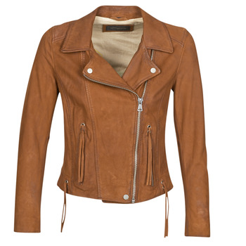 material Women Leather jackets / Imitation le Oakwood ANGIE Brown