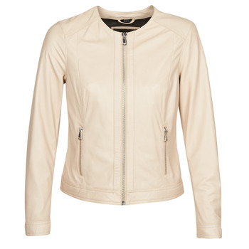 material Women Leather jackets / Imitation le Oakwood ANGIE Beige / Pink
