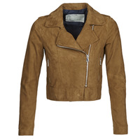 material Women Leather jackets / Imitation le Oakwood PHOEBE Cognac / Suede