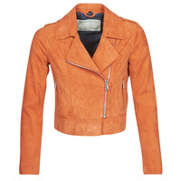material Women Leather jackets / Imitation le Oakwood KEREN Rust
