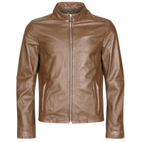 material Men Leather jackets / Imitation le Oakwood KEREN Cognac