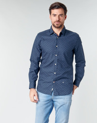 material Men long-sleeved shirts Pepe jeans ADAN Marine