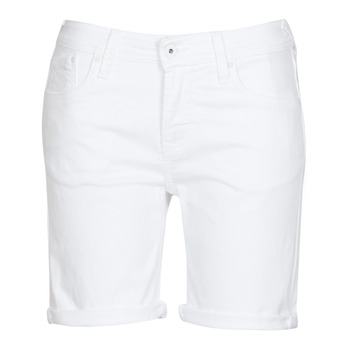 material Women Shorts / Bermudas Pepe jeans POPPY White