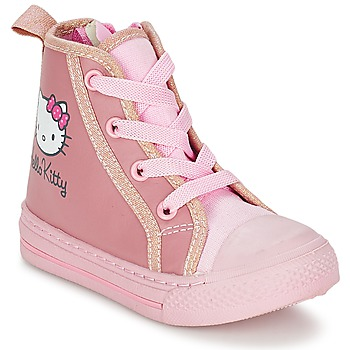 Shoes Girl High top trainers Hello Kitty TANSIOUR Pink
