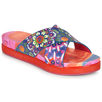Shoes Women Mules Desigual NILO GALACTIC Blue / Red
