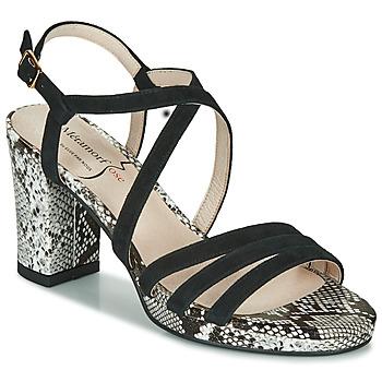 Shoes Women Sandals Metamorf'Ose GABARIT Black / Python