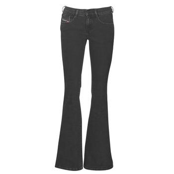 material Women bootcut jeans Diesel EBBEY Blue / Dark