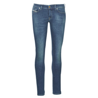 material Women slim jeans Diesel SLANDY LOW Blue