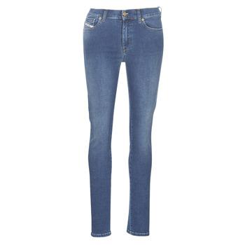 material Women slim jeans Diesel D-ROISIN Blue