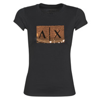 material Women short-sleeved t-shirts Armani Exchange HONEY Black