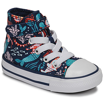 Shoes Girl High top trainers Converse CHUCK TAYLOR ALL STAR 1V UNDERWATER PARTY Blue