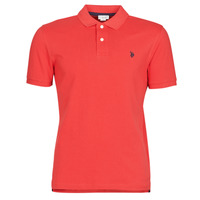 material Men short-sleeved polo shirts U.S Polo Assn. INSTITUTIONAL POLO Red