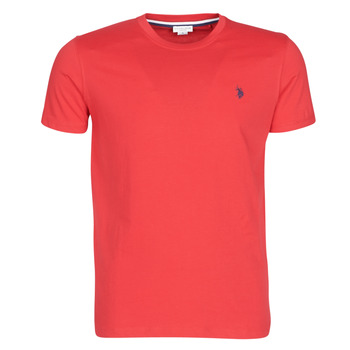 material Men short-sleeved t-shirts U.S Polo Assn. DOUBLE HORSE TEE Red