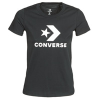 material Women short-sleeved t-shirts Converse STAR CHEVRON TEE Black