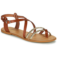 Shoes Women Sandals So Size MAUD Camel / Gold