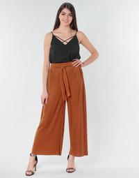 material Women Wide leg / Harem trousers Moony Mood MERONAR Rust