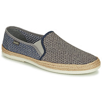 Shoes Men Espadrilles Bamba By Victoria ANDRE ELASTICO BICOLOR Grey