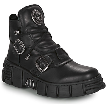 Shoes Mid boots New Rock ARIA Black