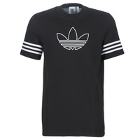 material Men short-sleeved t-shirts adidas Originals OUTLINE TEE Black