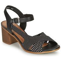 Shoes Women Sandals Remonte Dorndorf MOSKI Black / White