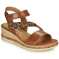 Shoes Women Sandals Remonte Dorndorf HERNENDEZ Cognac / Leopard