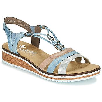 Shoes Women Sandals Rieker LAKTOS Blue