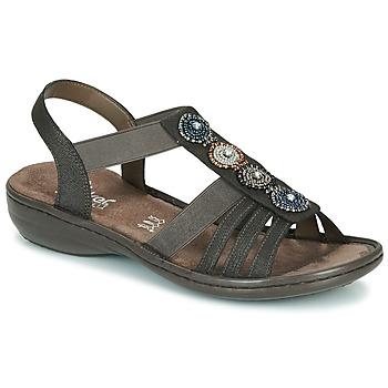 Shoes Women Sandals Rieker ANOUCK Black