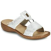 Shoes Women Sandals Rieker MOLLY Silver
