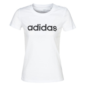 material Women short-sleeved t-shirts adidas Performance E LIN SLIM T White