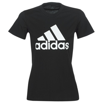 material Women short-sleeved t-shirts adidas Performance BOS CO TEE Black