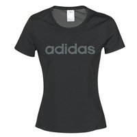 material Women short-sleeved t-shirts adidas Performance D2M LO TEE Black