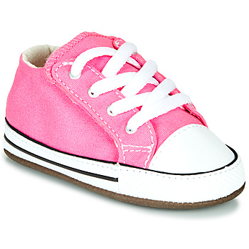Shoes Girl High top trainers Converse CHUCK TAYLOR FIRST STAR CANVAS HI Pink