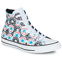 Shoes Women High top trainers Converse Chuck Taylor All Star Logo Play White / Black / Multi
